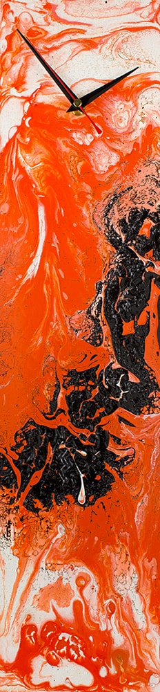 Orange and Black Glass Art  - Click for more